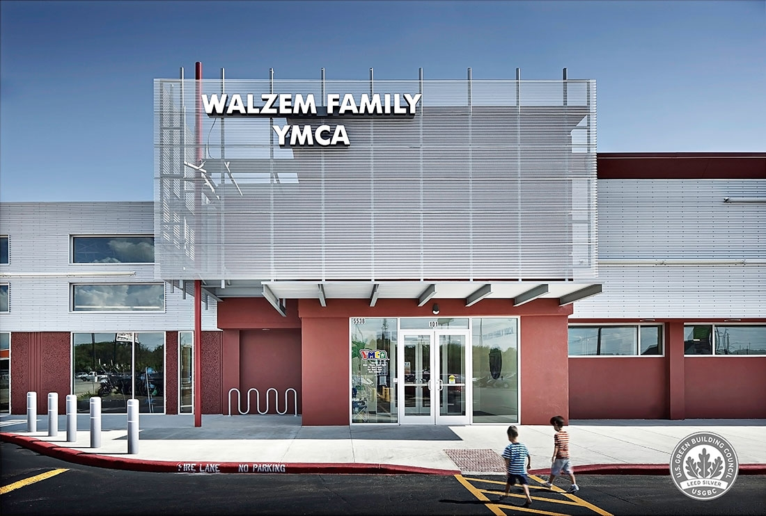 Walzem family ymca receives leed silver certification marmon mok walzem family ymca receives leed silver certification marmon mok architecture xflitez Choice Image