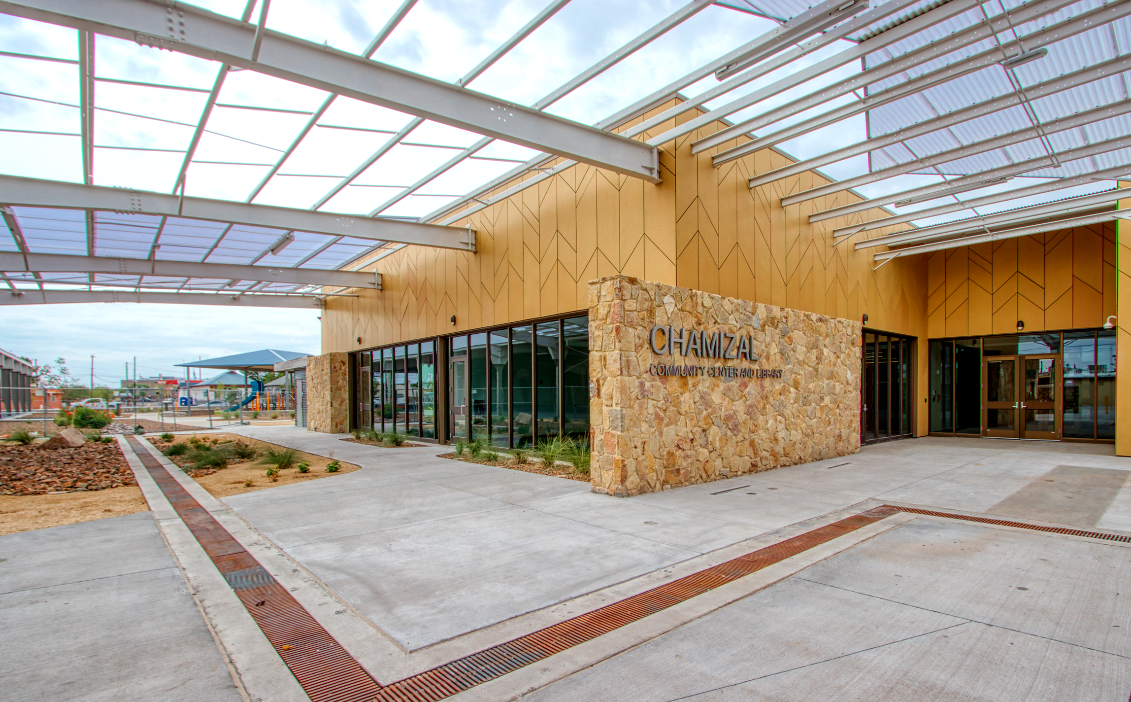 Chamizal Community Center and Library Exterior